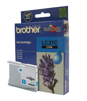 Brother LC-37C Cyan Ink Cartridge - 300 pages - Out Of Ink