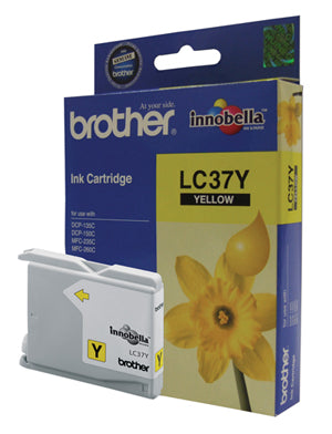 Brother LC-37Y Yellow Ink Cartridge - 300 pages - Out Of Ink