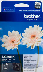 Brother LC-39BK Black Ink Cartridge (300 pages) - Out Of Ink