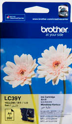 Brother LC-39Y Yellow Ink Cartridge (260 pages) - Out Of Ink
