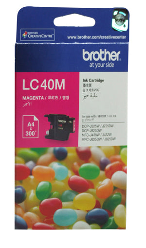 Brother LC-40M Magenta Ink Cartridge - 300 pages - Out Of Ink