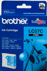 Brother LC-57C Cyan Ink Cartridge (up to 400 pages) - Out Of Ink