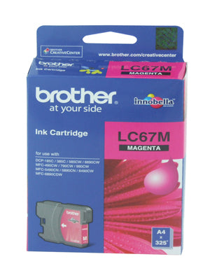 Brother LC-67M Magenta Ink Cartridge - 325 pages - Out Of Ink