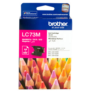 Brother LC-73 Magenta Ink Cartridge - 600 pages - Out Of Ink