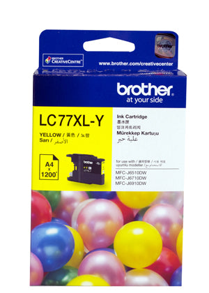 Brother LC77XL Yellow Ink Cartridge - 1,200 pages - Out Of Ink