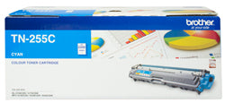 Brother TN-255 Cyan Toner Cartridge - 2,200 pages - Out Of Ink