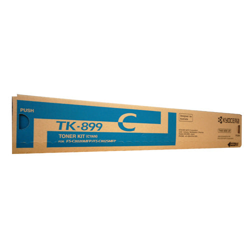 Kyocera TK899 Cyan Toner Cartridge - 6,000 pages - Out Of Ink