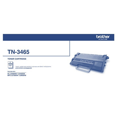 Brother TN3465 Black Toner - Out Of Ink