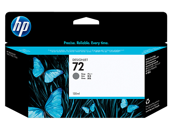 HP No.72 Photo Grey Cartridge - Out Of Ink