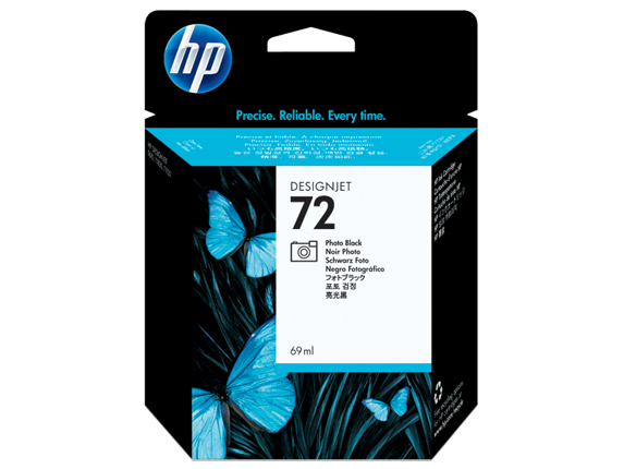 HP No.72 Photo Black Cartridge - Out Of Ink