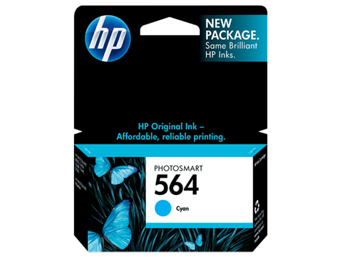 HP No.564 Cyan Ink Cartridge - 300 pages - Out Of Ink