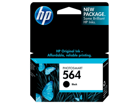 HP No.564 Black Ink Cartridge - 250 pages - Out Of Ink