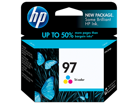 HP No.97 Colour Ink Cartridge - 14ml - 450 pages - Out Of Ink