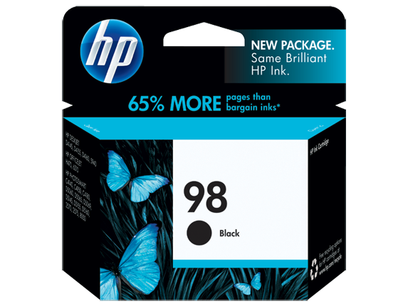 HP No.98 Black Ink Cartridge - 400 pages - Out Of Ink