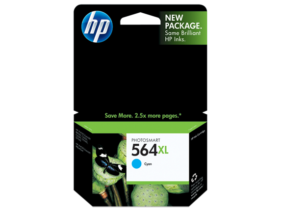 HP No.564XL Cyan Ink Cartridge - 750 pages - Out Of Ink