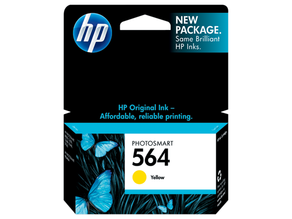 HP No.564 Yellow Ink Cartridge - 300 pages - Out Of Ink
