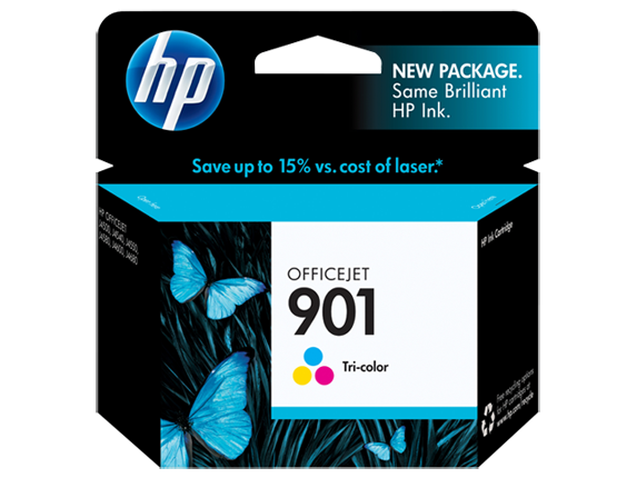 HP No.901 Colour Ink Cartridge - 360 pages - Out Of Ink