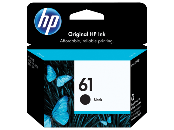 HP No.61 Black ink Cartridge - 190 pages - Out Of Ink