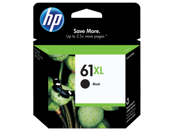 HP No.61 Black XL ink Cartridge - 480 pages - Out Of Ink