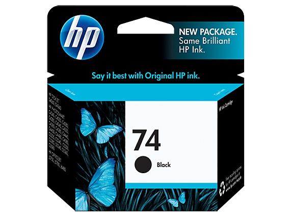 HP No.74 Black Ink Cartridge - 220 pages - Out Of Ink