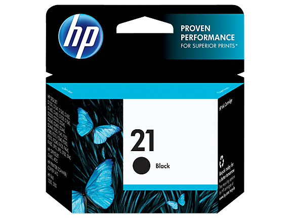 HP No.21 Black Ink Cartridge - 185 pages - Out Of Ink