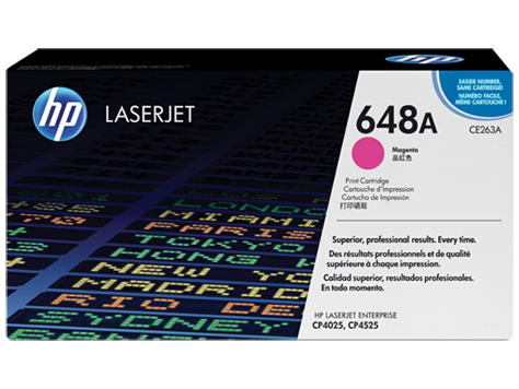 HP CE263A Magenta Toner Cartridge - 11,000 pages - Out Of Ink