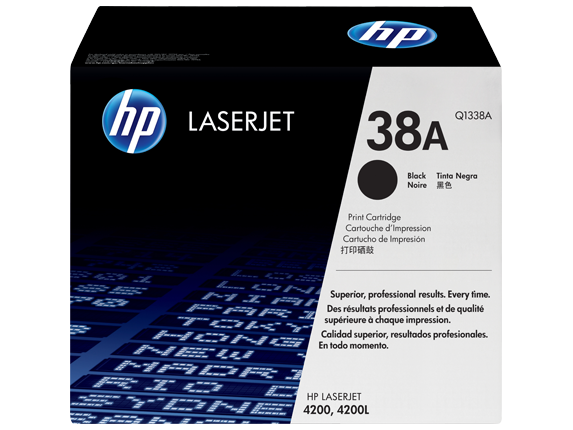 HP No.38A Toner Cartridge - 12,000 pages - Out Of Ink