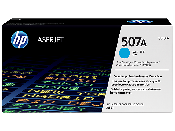 HP 507A Cyan Toner Cartridge - 6,000 pages - Out Of Ink