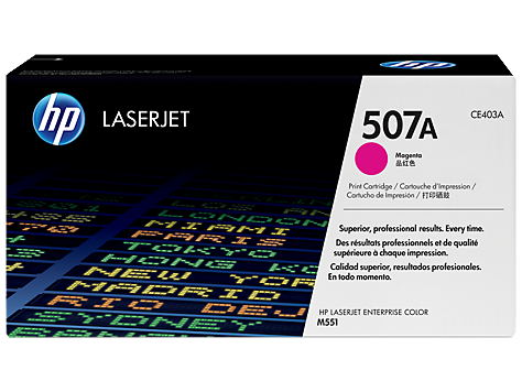 HP 507A Magenta Toner Cartridge - 6,000 pages - Out Of Ink