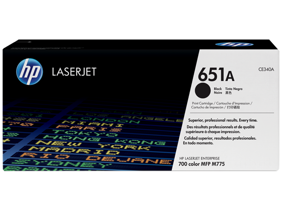 HP 651A Black Toner Cartridge - 13,500 pages - Out Of Ink