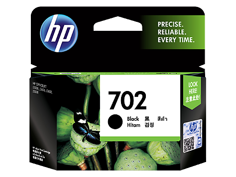 HP No.702 Black Ink Cartridge - 600 pages - Out Of Ink