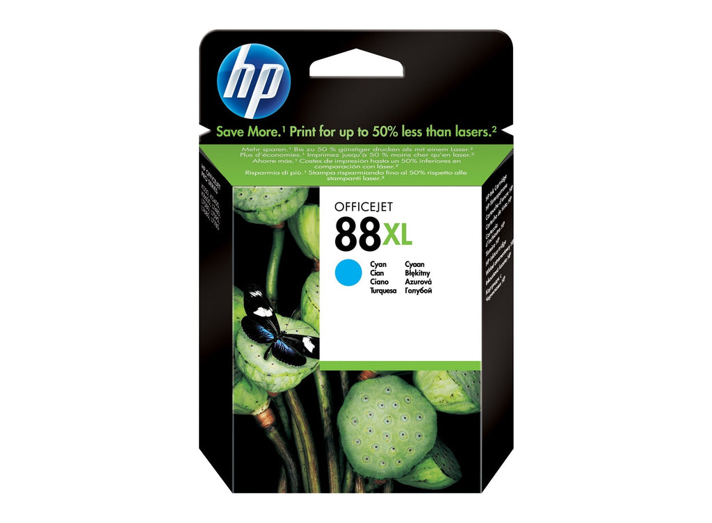 HP No.88XL Cyan Ink Cartridge - 1,700 pages - Out Of Ink