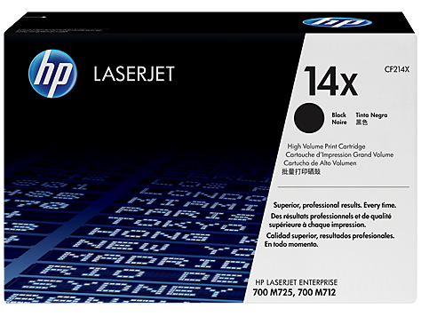 HP No.14X High Yield Toner Cartridge - 17,500 pages - Out Of Ink