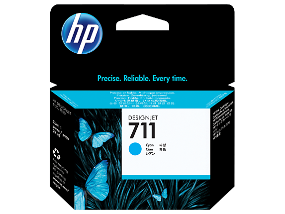 HP #711 29ml Cyan Ink CZ130A - Out Of Ink