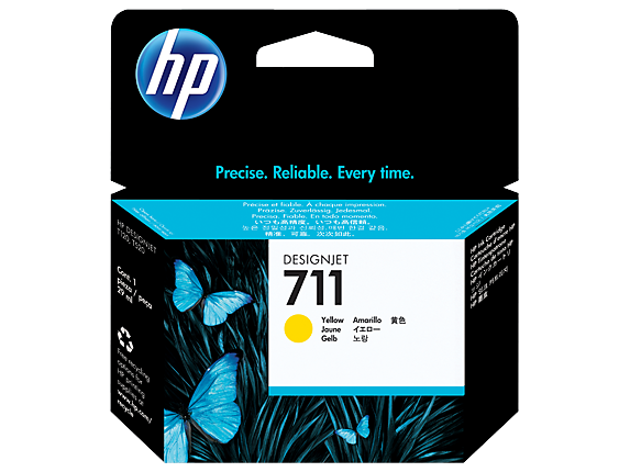 HP #711 29ml Yellow Ink CZ132A - Out Of Ink