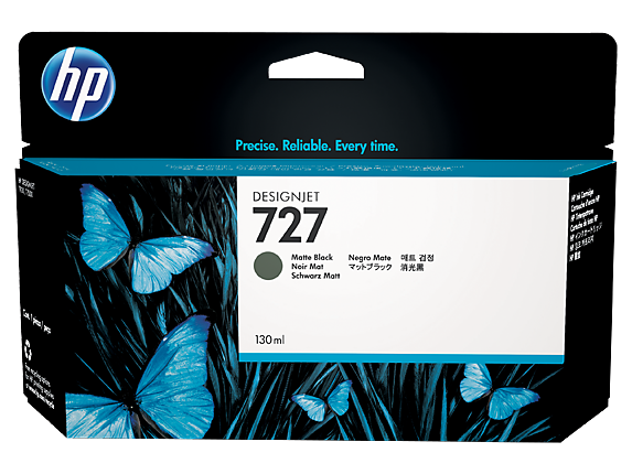 HP #727 300ml Matte Blk C1Q12A - Out Of Ink