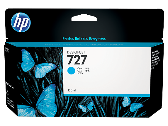 HP #727 130ml Cyan Ink B3P19A - Out Of Ink