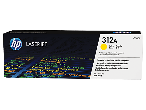 HP #312A Yellow Toner CF382A - Out Of Ink