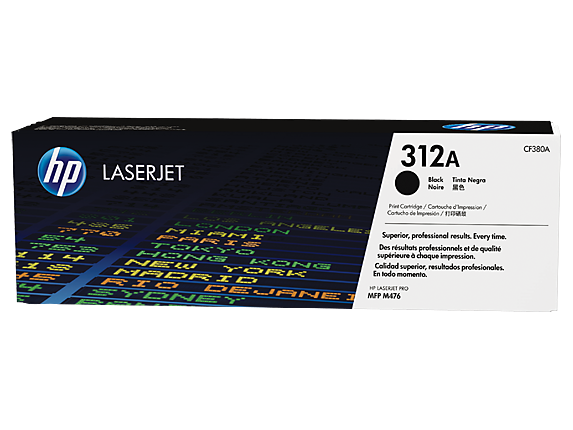 HP #312A Black Toner CF380A - Out Of Ink