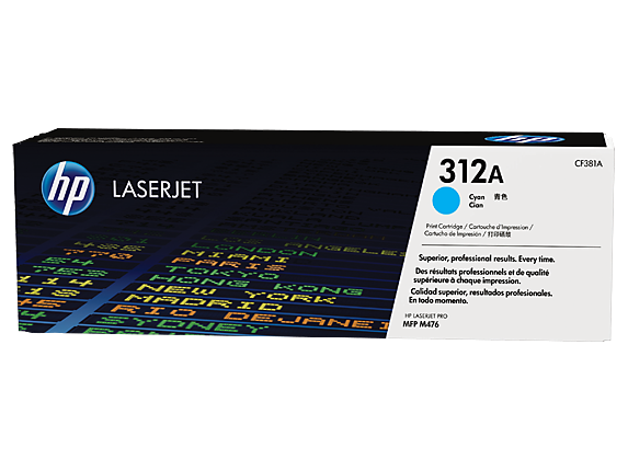 HP #312A Cyan Toner CF381A - Out Of Ink