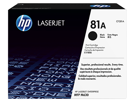 HP #81A Black Toner CF281A - Out Of Ink
