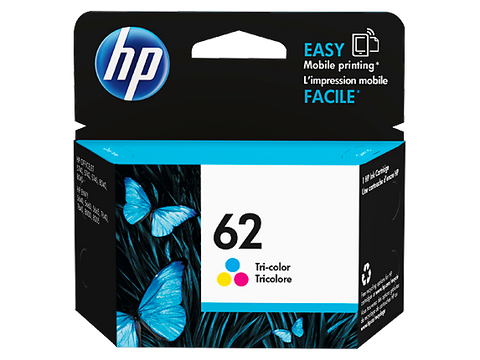 HP 62 Tri-Colour Ink Cart - Out Of Ink