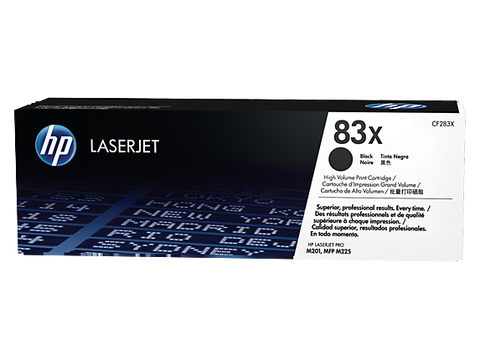 HP 83X Black Toner CF283X - Out Of Ink