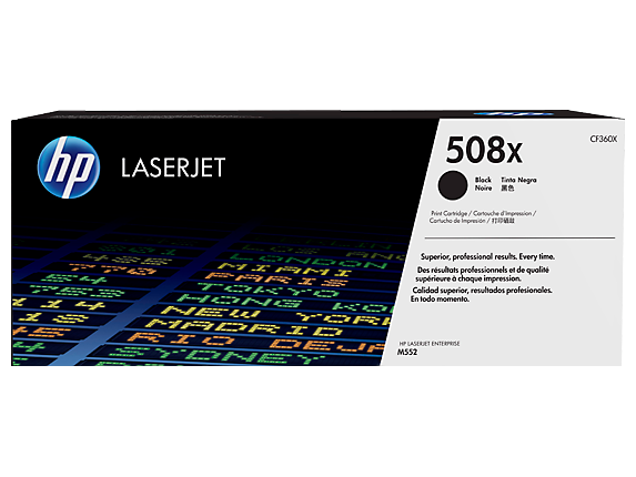 HP #508X Black Toner CF360X - Out Of Ink