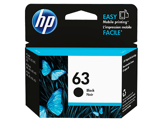 HP #63 Black Ink F6U62AA - Out Of Ink