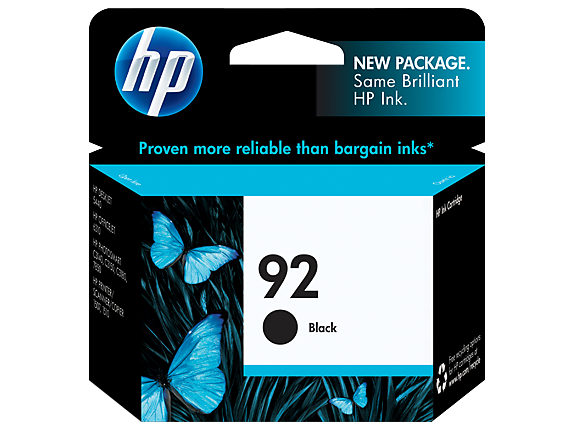 HP No.92 Black Ink Cartridge - 210 pages - Out Of Ink