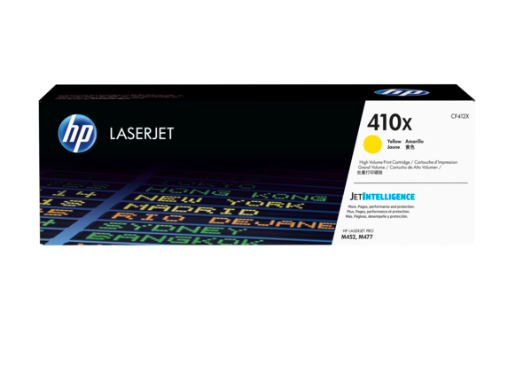 HP 410X Yellow Toner CF412X - 5,000 pages - Out Of Ink