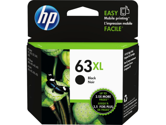 HP #63XL Black Ink F6U64AA - Out Of Ink
