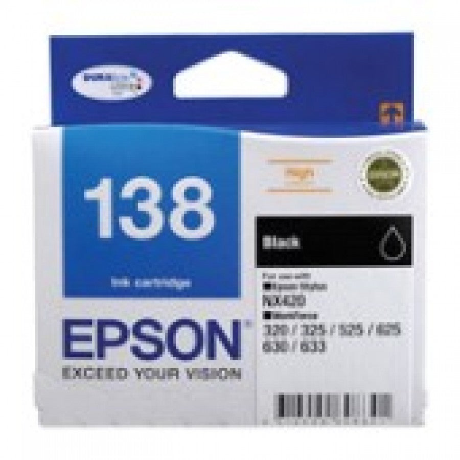 Epson T1381 (138) H/Y Black Ink Cartridge - 380 pages - Out Of Ink