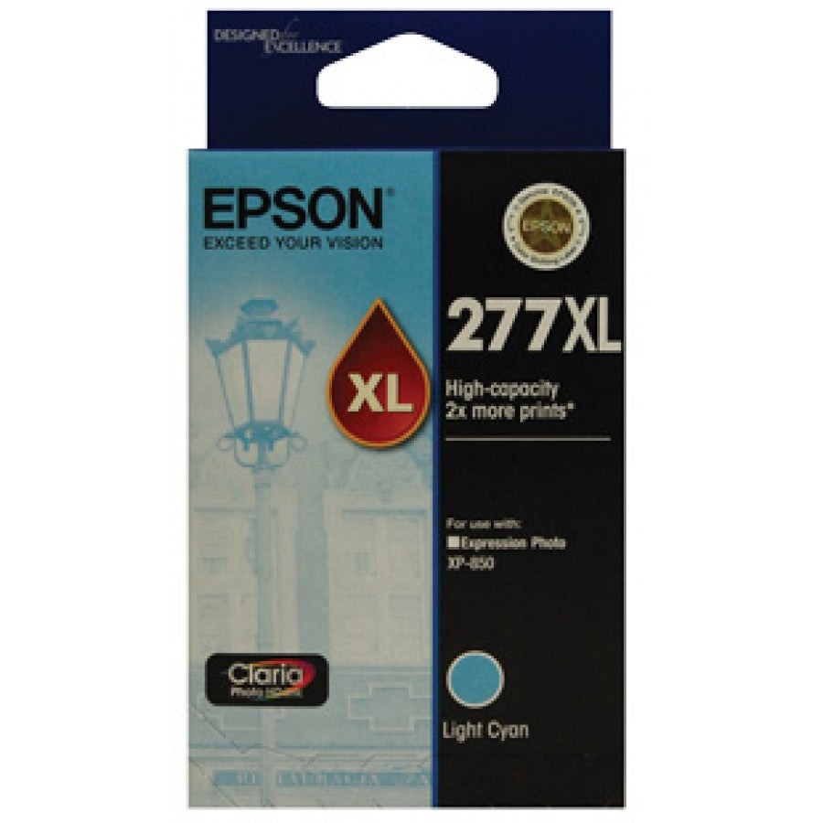 Epson 277 Light Cyan Ink Cart - Out Of Ink
